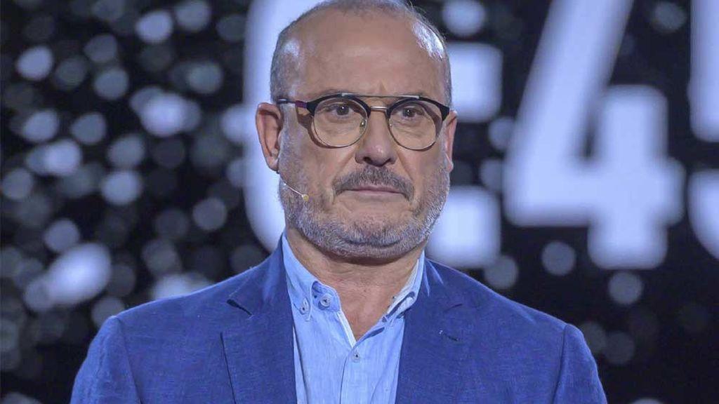 Manolo Ximénez, hermano de Mila Ximénez, en el plató de 'GH Vip' (2019)