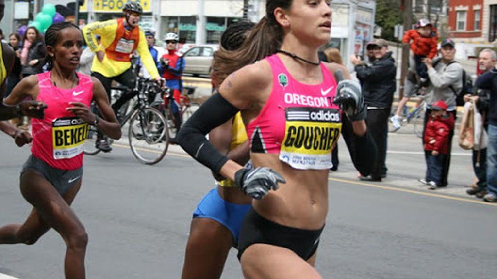 Atletas en una prueba de maratón
