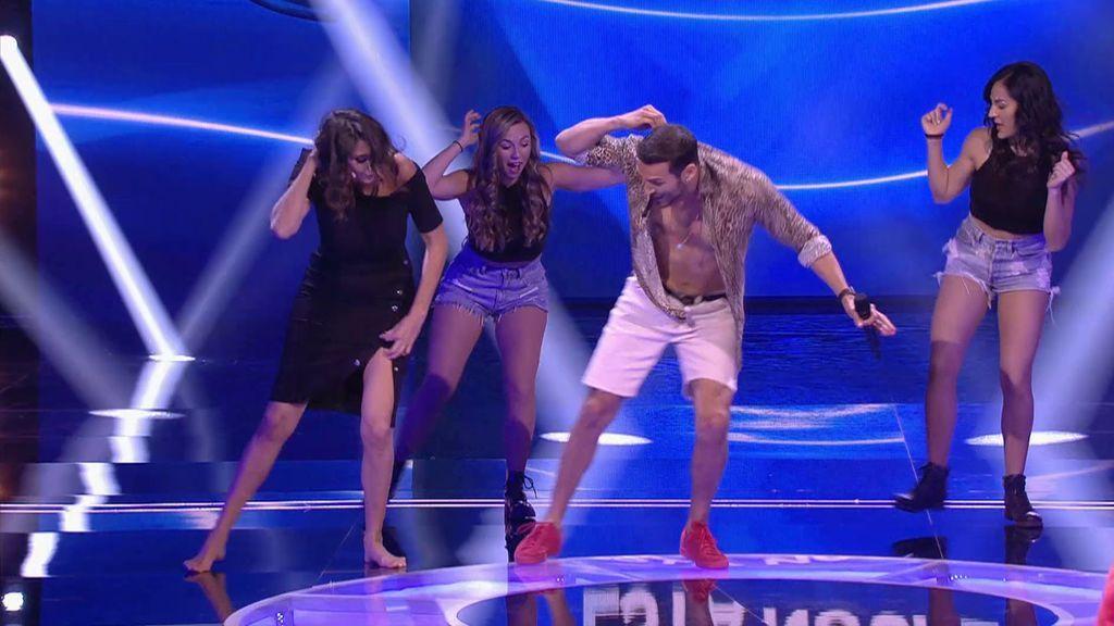 """Paz Padilla baila champeta con el actor Édgar Vitorino, de 'Vivir sin permiso', pero le da rabia no poder acercarse más: """"Esto del COVID es un rollo"""""""