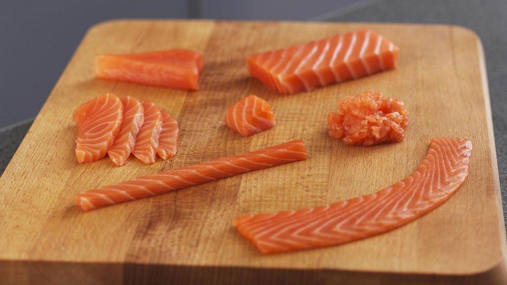 Cortes del salmón