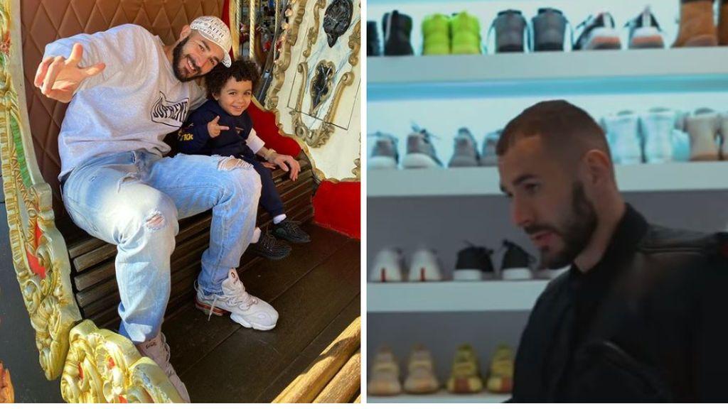 La pasión oculta de Karim Benzema: necesita una habitación entera para guardar todas sus zapatillas
