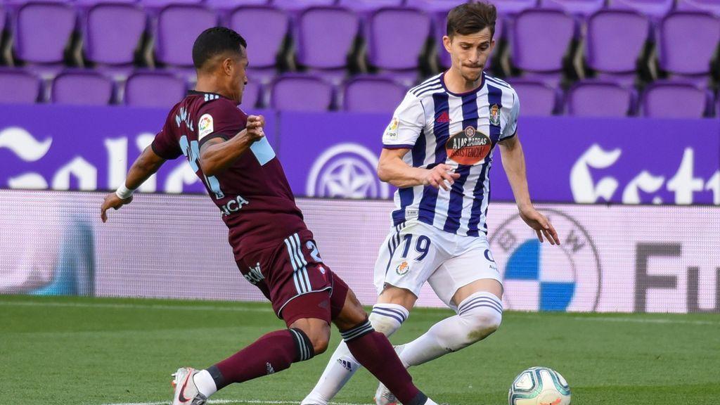 Valladolid y Celta en un lance del partido