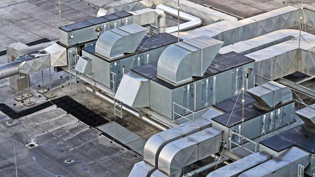 Máquinas climatización edificio