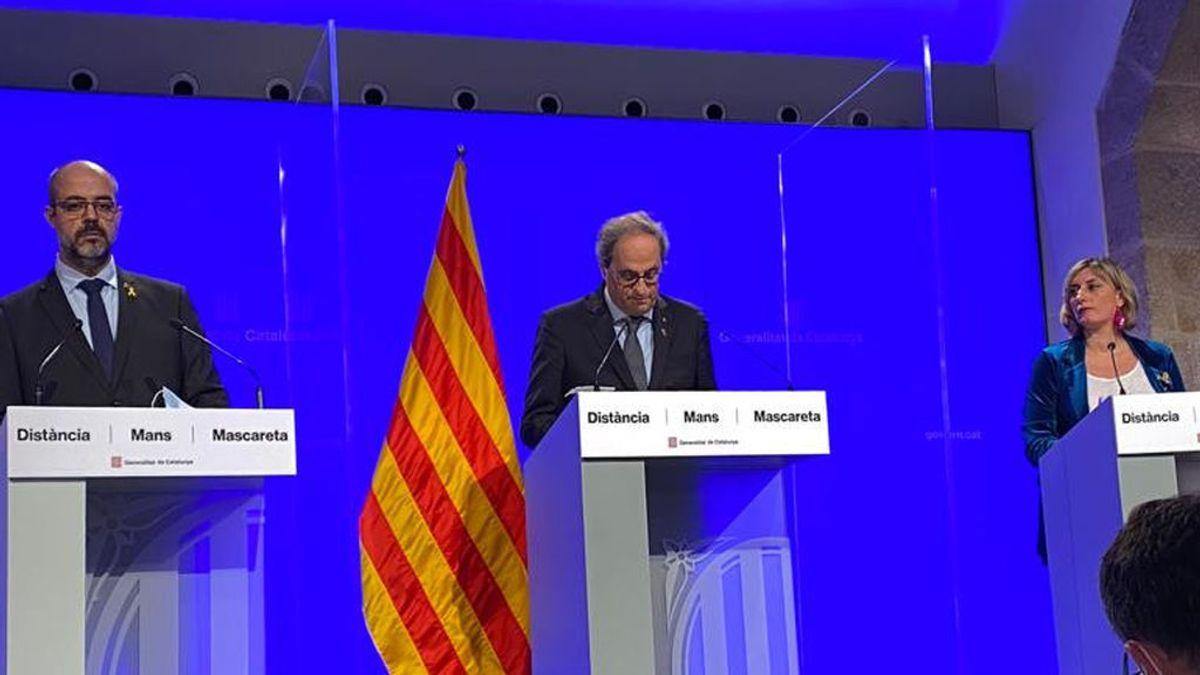 Torra pone fin al estado de alarma en Cataluña tras sólo unas horas en fase 3
