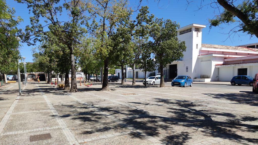La plaza de San Rafael de Jerez, donde se encuentra la parroquia