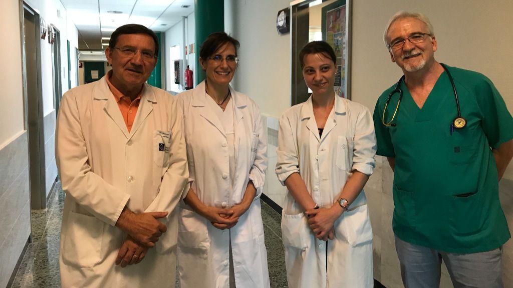 Parte del equipo de la Unidad Multidisciplinar: Julio Pardo (neurólogo), Ana Cantón (endocrina), Tania García (neuróloga) y Carlos Zamarrón (neumólogo)