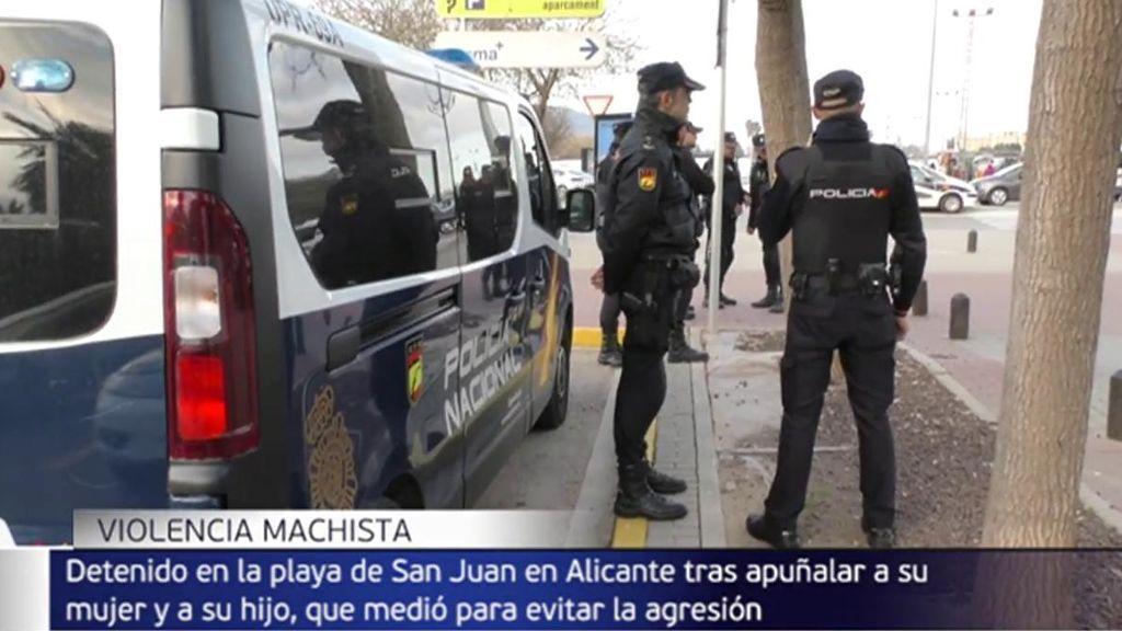 Detenido un hombre por apuñalar a su mujer y a su hijo, que trató de evitar la agresión machista, en Alicante