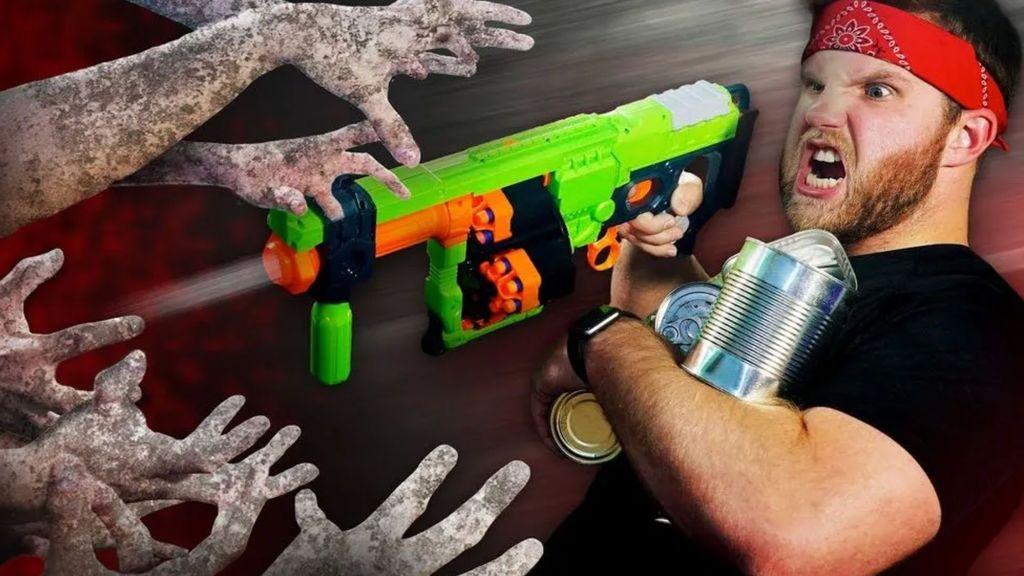 La invasión zombie ha llegado con un nuevo desafío Nerf: solo tú y tu familia podéis acabar con ellos