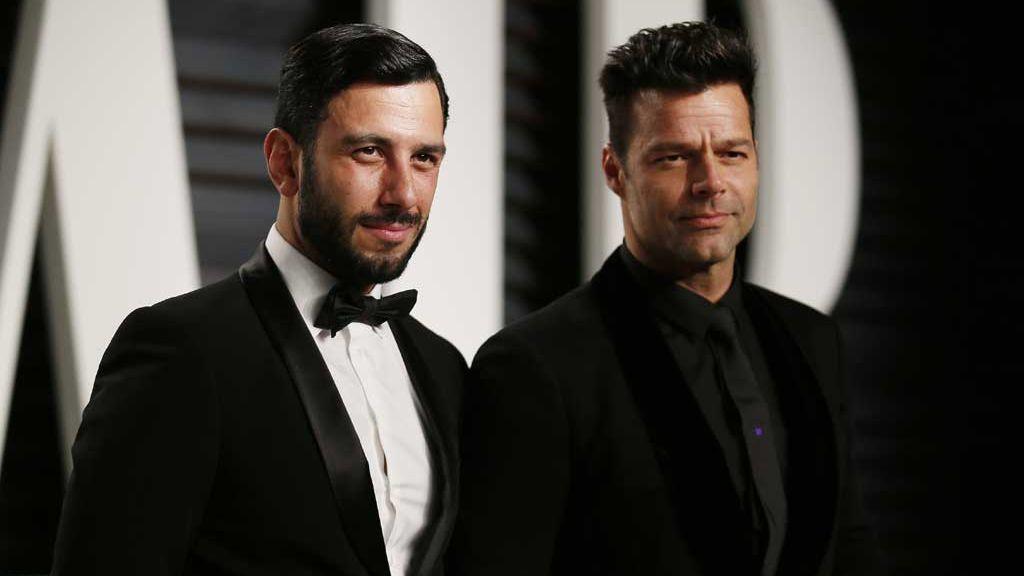 Ricky Martin con su marido, Jwan Yosef