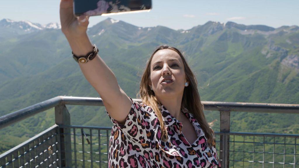 Un selfie de vértigo en el Mirador de Fuente Dé