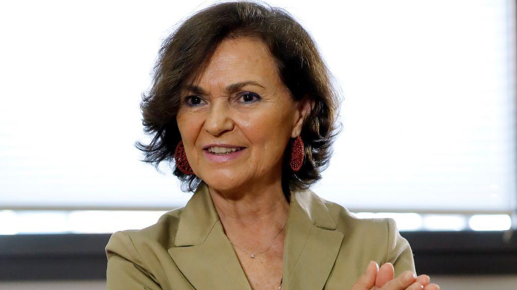 """Carmen Calvo asegura que el Gobierno no se merecía el """"acoso"""" vivido durante la alarma"""