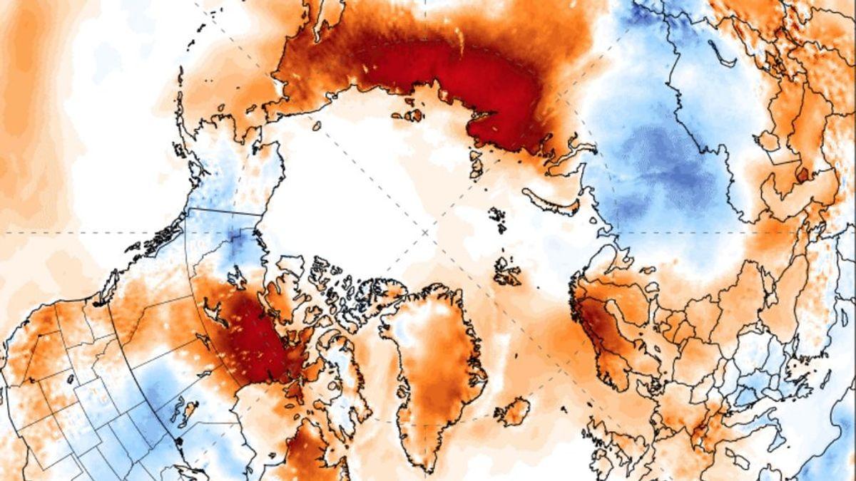 El Círculo Polar Ártico a 38 grados centígrados, la temperatura más alta registrada tan al norte en la historia