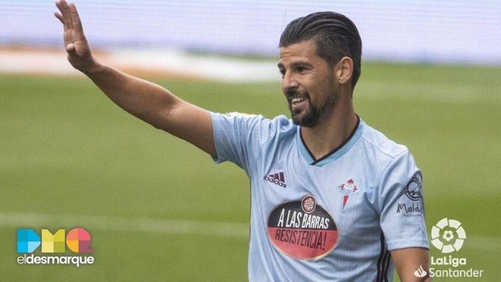 Nolito celebra un gol con el Celta