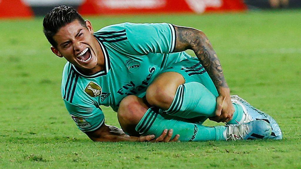 James vuelve a ser titular con el Real Madrid 136 días después