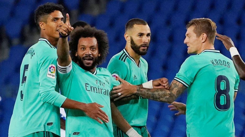 El Real Madrid estrena la 'nueva normalidad' recuperando el liderato ante la Real Sociedad (1-2)