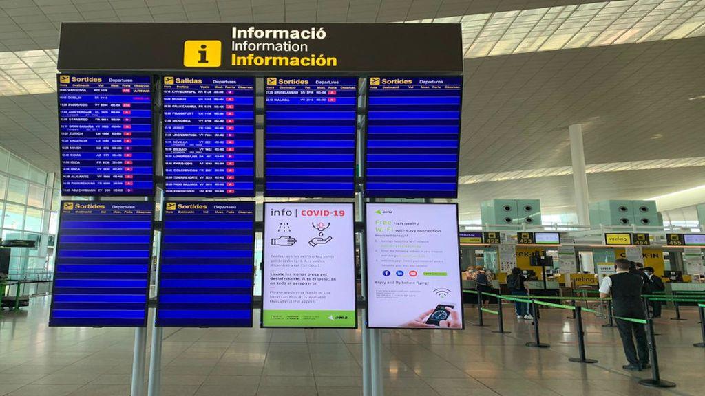 El aeropuerto de El Prat retoma su actividad con más de ochenta vuelos comerciales programados para este domingo