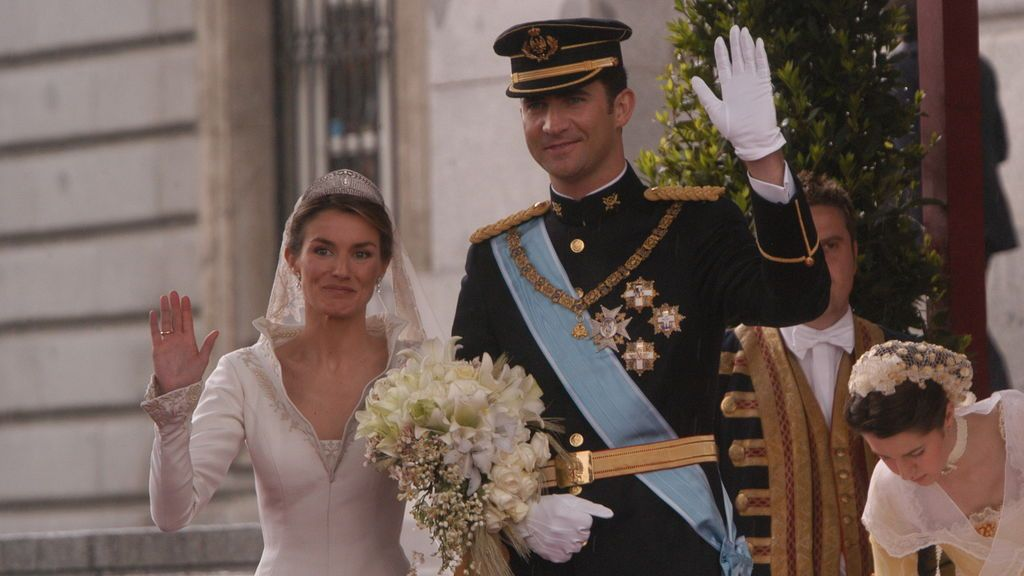 Los Reyes de España el día de su boda