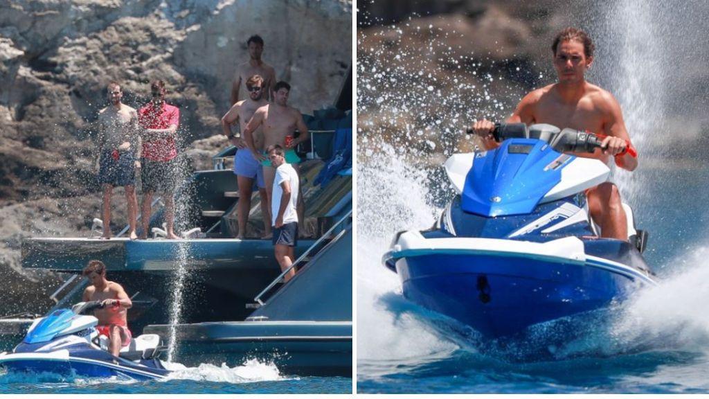 Los amigos de Rafa Nadal alucinan al verlo subido en una moto de agua: sus caras lo dicen todo