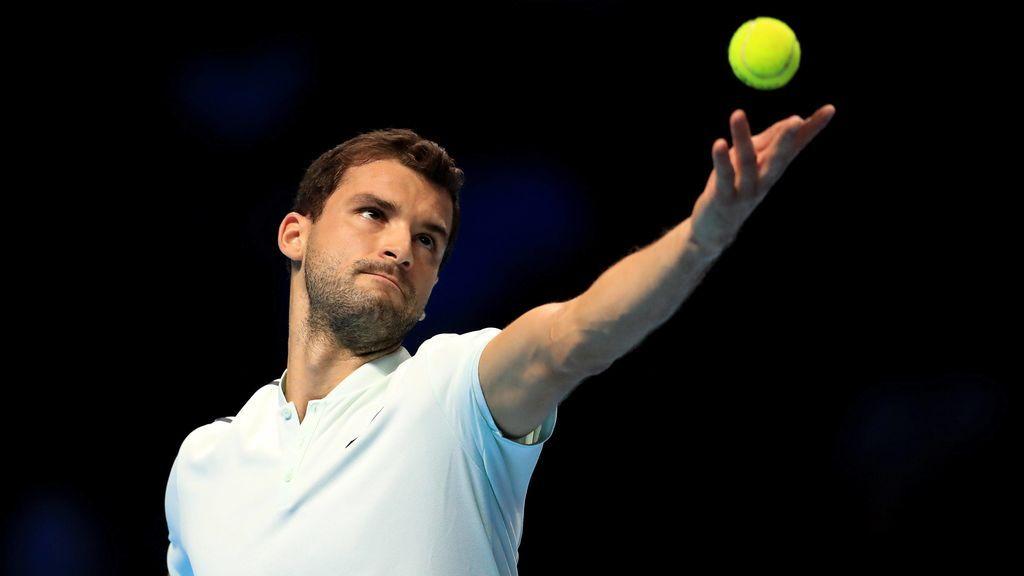 Gregor Dimitrov, en un partido de tenis.