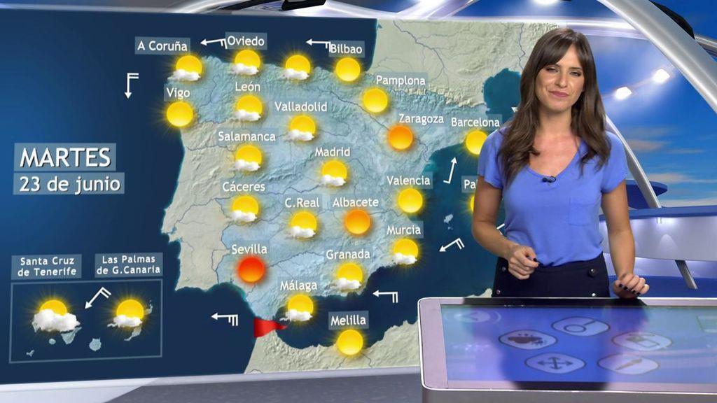 Más calor el martes: las zonas donde se van a superar los 35ºC