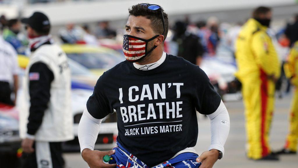Encuentran una soga en el box del piloto de la Nascar Bubba Wallace tras apoyar las protestas contra el racismo