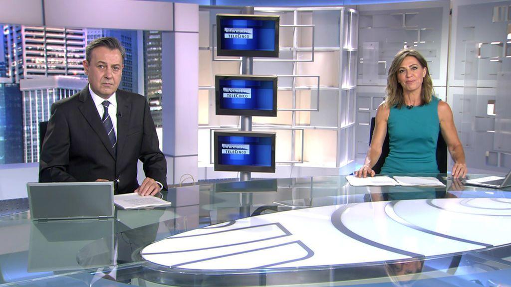 Con José Ribagorda y Ángeles Blanco Informativos Telecinco 2020 Noche 21/06/2020