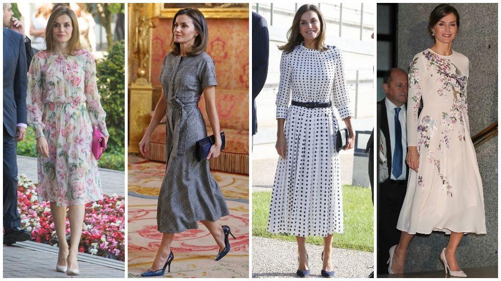 Los lleva ¡y repite! Todos los vestidos low cost de Letizia.