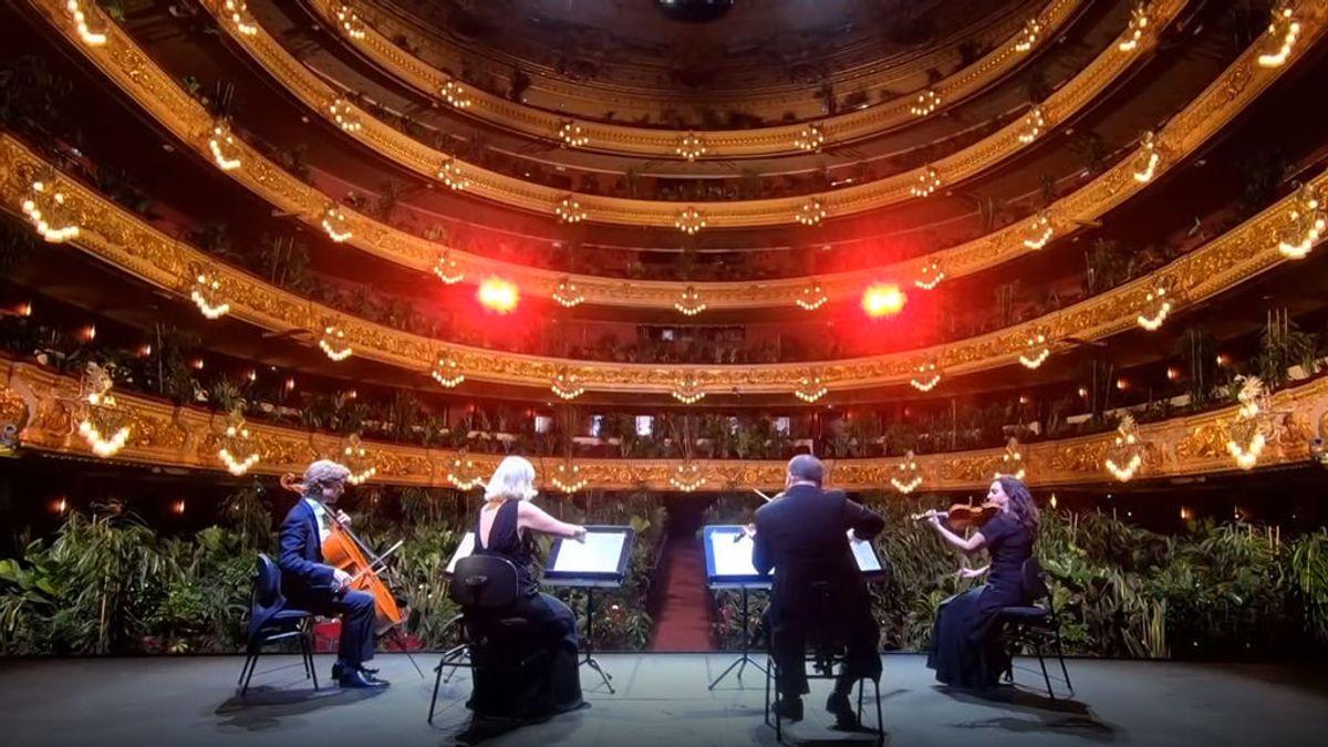 Un concierto con plantas como público: el Liceu de Barcelona regresa con una obra de Puccini