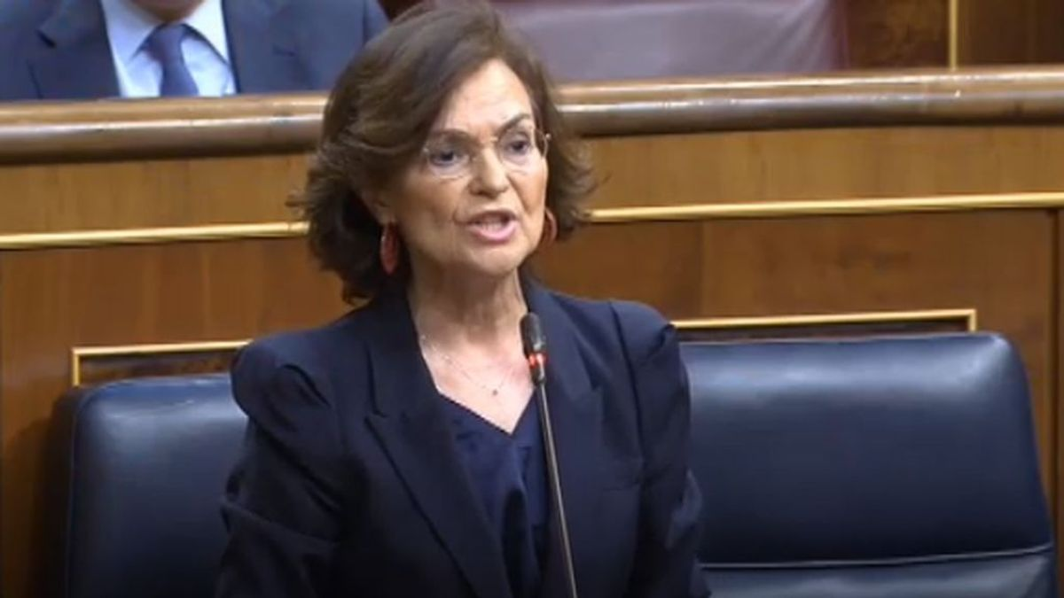 """Carmen Calvo: """"Si los brotes se agravan, el Gobierno se planteará decretar el estado de alarma"""""""