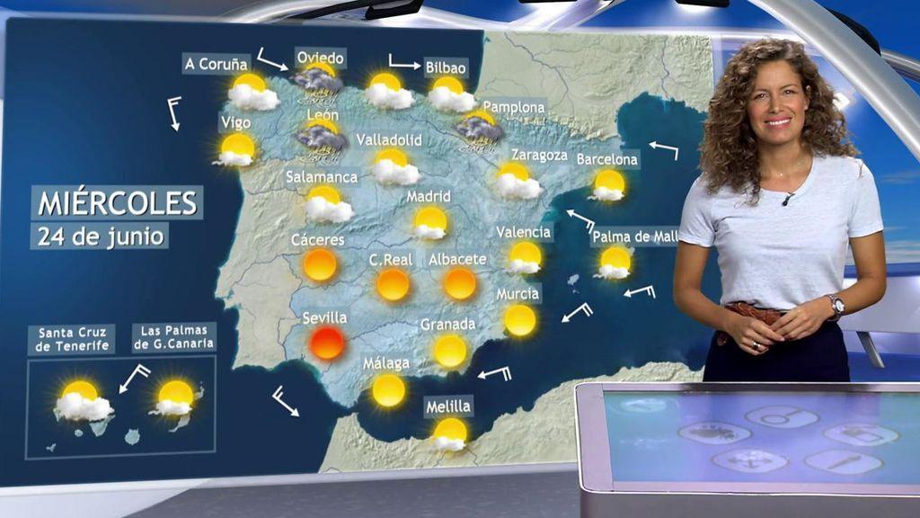 Del bochorno a las tormentas: el miércoles por la tarde lloverá en el norte