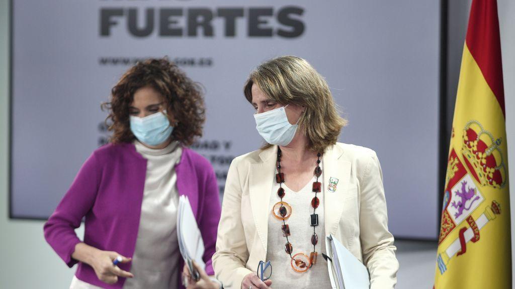 Montero y Ribera llegan a la sala de prensa tras el Consejo de Ministros