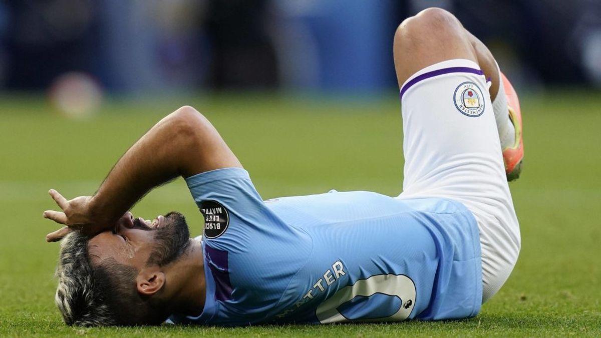 Agüero se lesiona en la rodilla, pasará por quirófano y dice adiós a la vuelta de Champions ante el Real Madrid