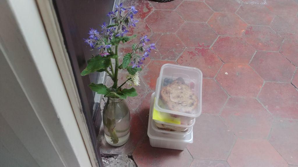 Tres meses dejando comida y flores a su vecina enfermera o la importancia de no olvidar tan rápido