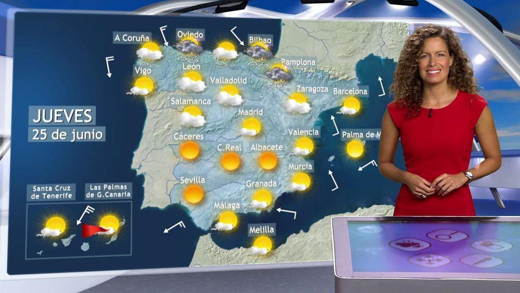 Lluvias y rayos en el norte: el jueves entrará aire frío en España por una vaguada