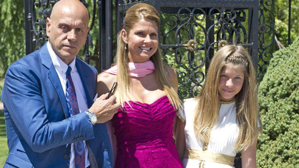 Kiko Matamoros, Makoke y Anita, en la boda de Tamara y Ezequiel