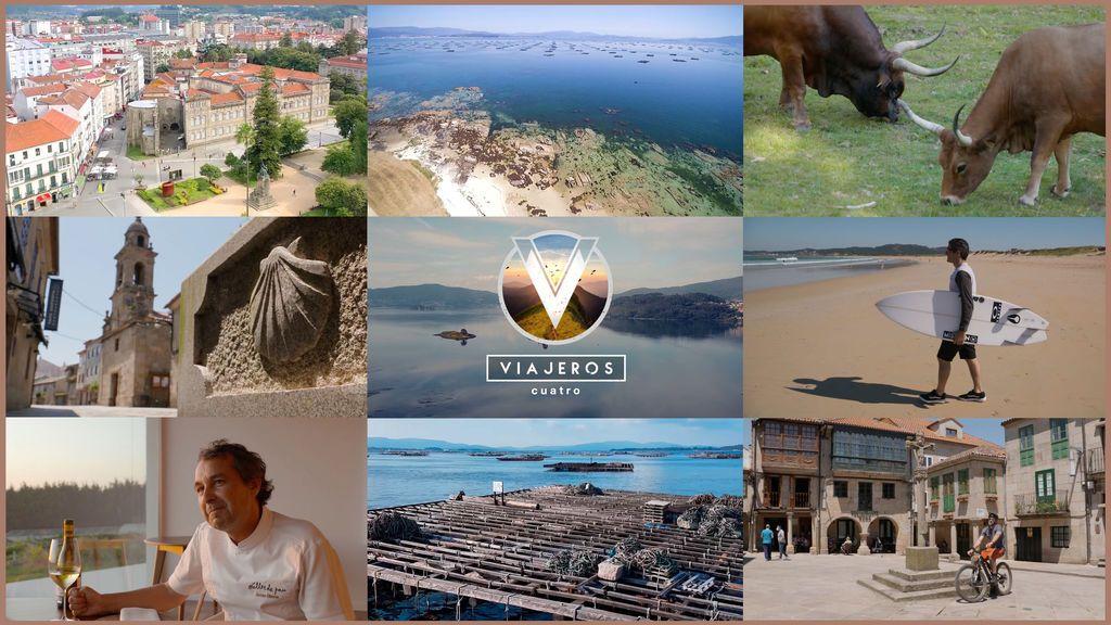 'Viajeros Cuatro' redescubre la belleza de Rías Baixas y cata un vino con nueve años de crianza bajo el mar