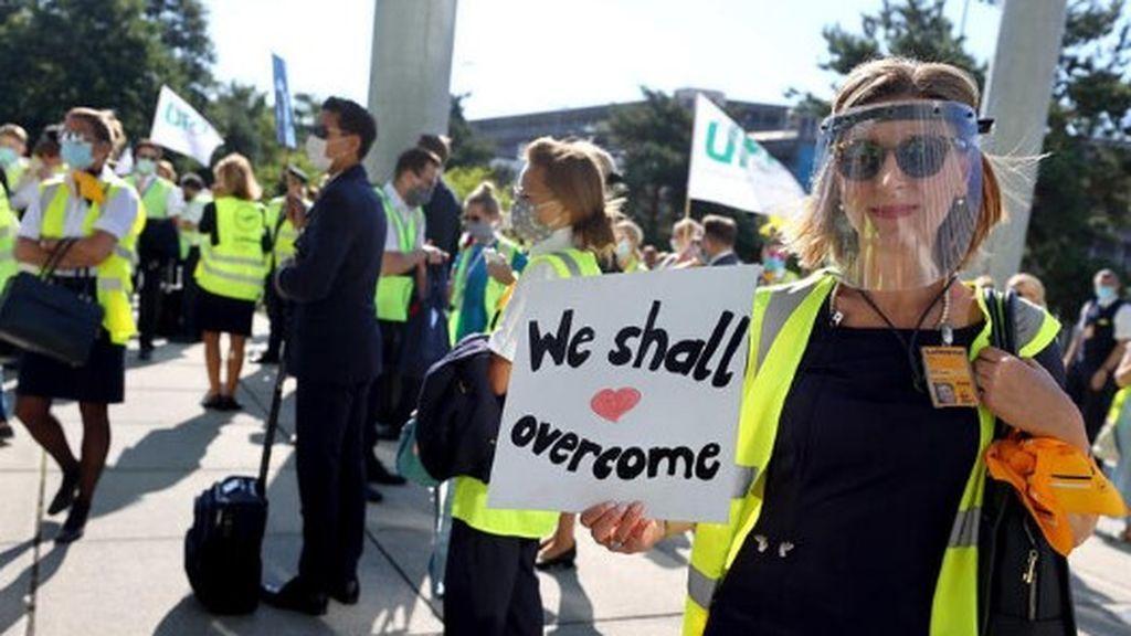 Protestas de trabajadores de Lufthansa