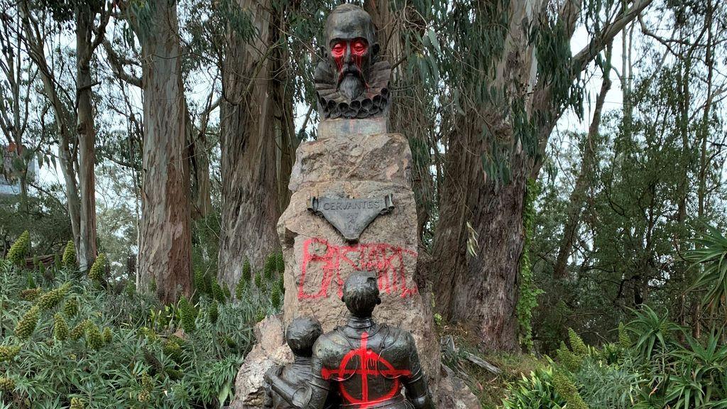 Estatua de Miguel de Cervantes en San Francisco