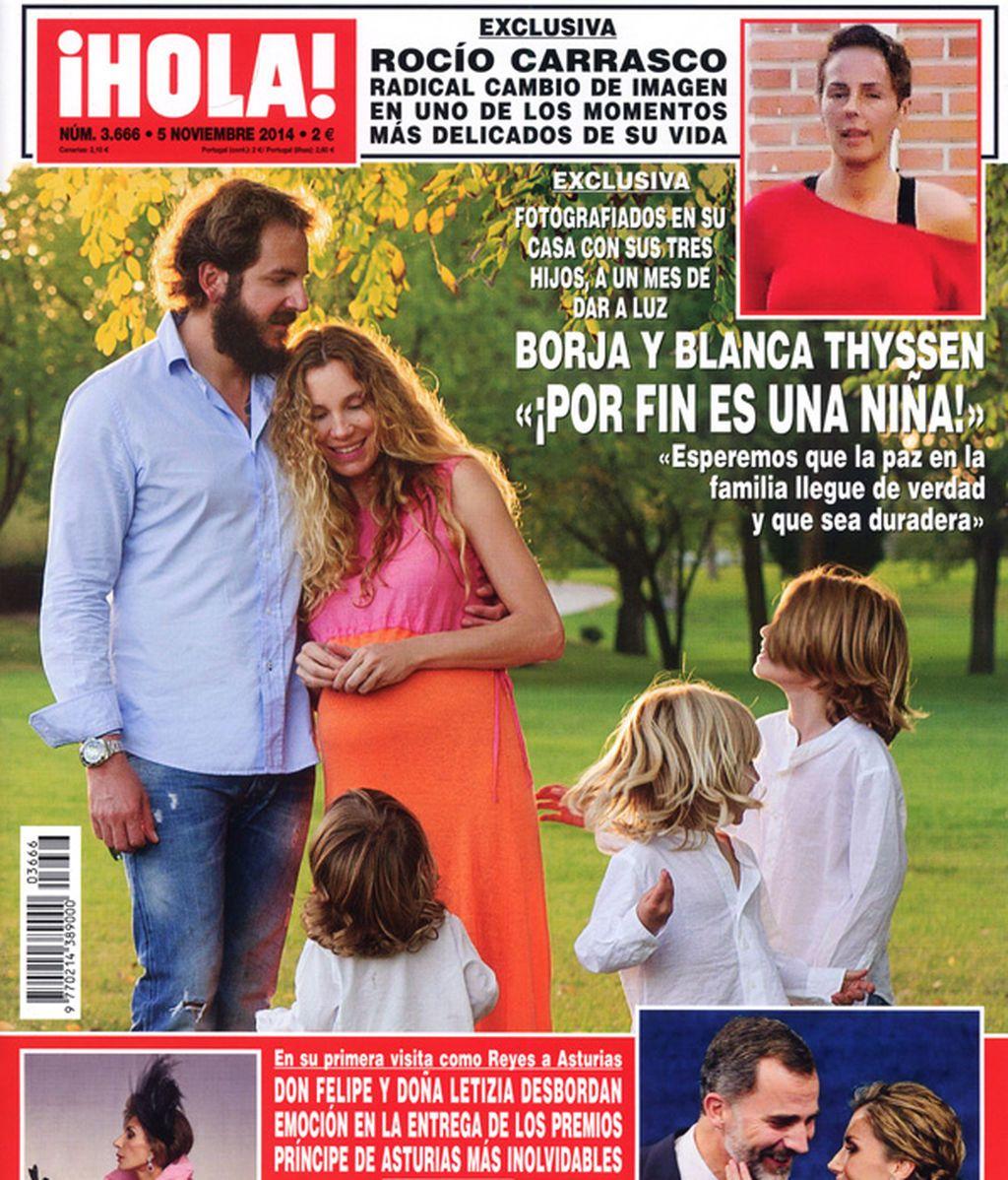 Borja, Blanca y sus hijos