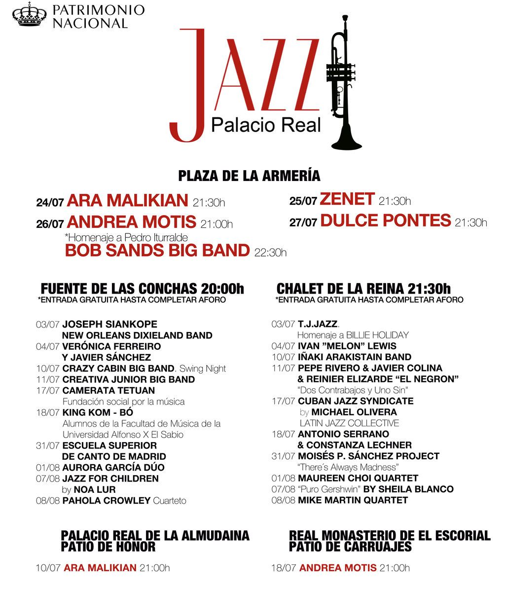 Cartel Jazz Palacio Real