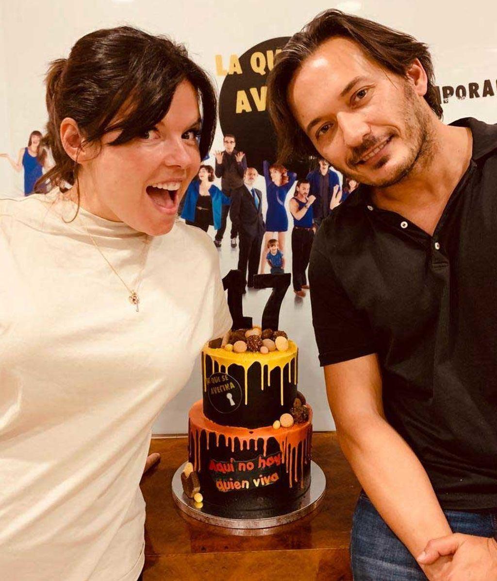 Laura y Alberto Caballero celebran 17 años en los platós de 'LQSA'