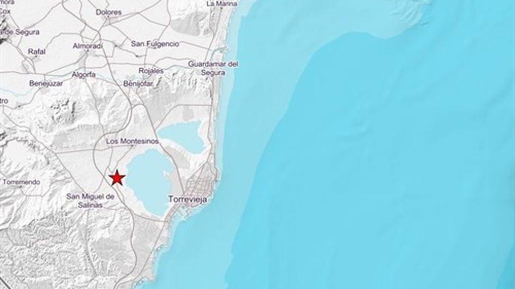 Registrado un terremoto de 3,1 grados en San Miguel de Salinas (Alicante) y una réplica de 2 grados