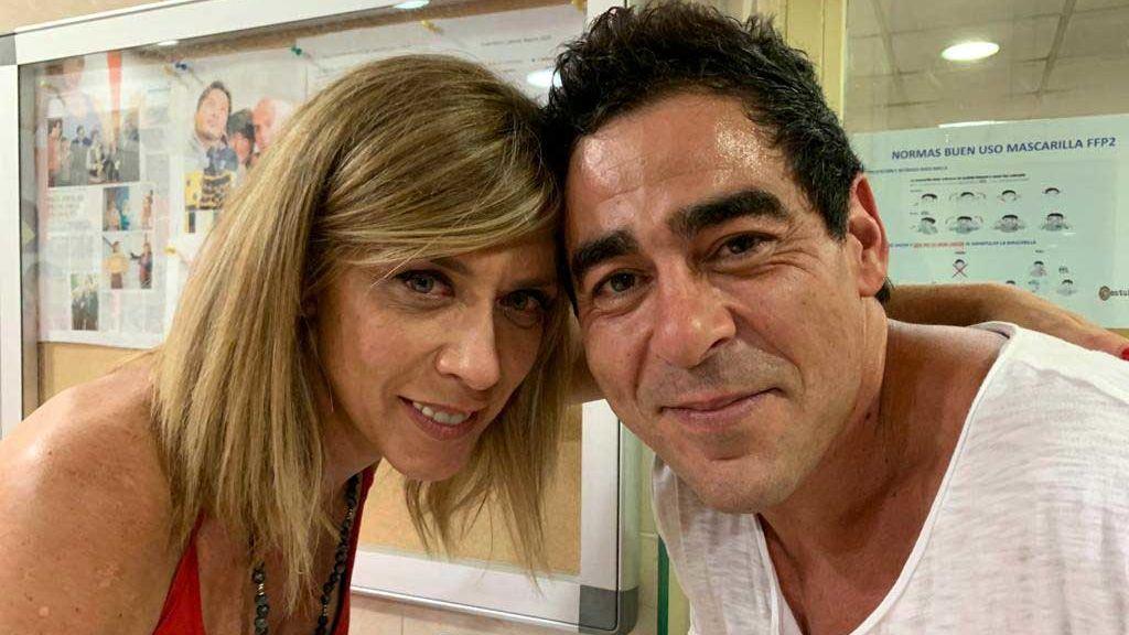 Eva Isanta y Pablo Chiapella celebrando los 13 años de 'LQSA'