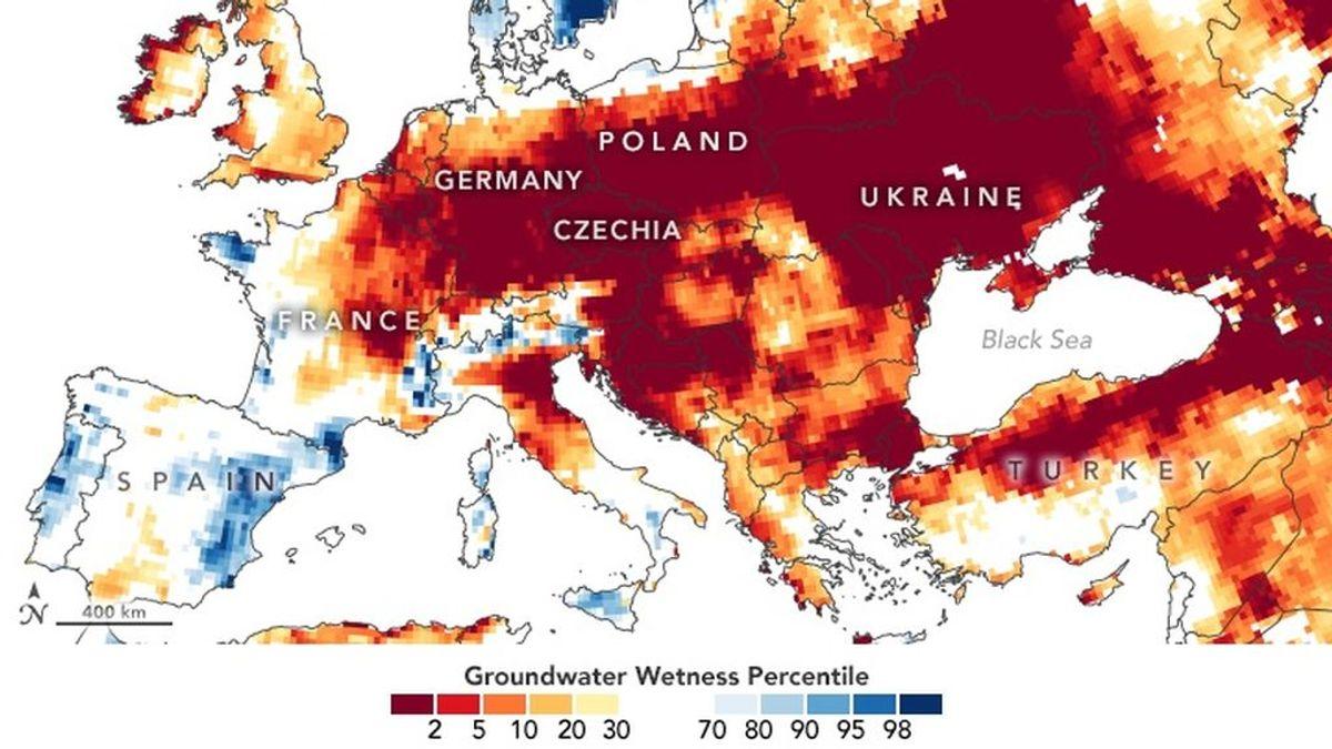 La NASA advierte de que Europa se está quedando sin reservas de agua