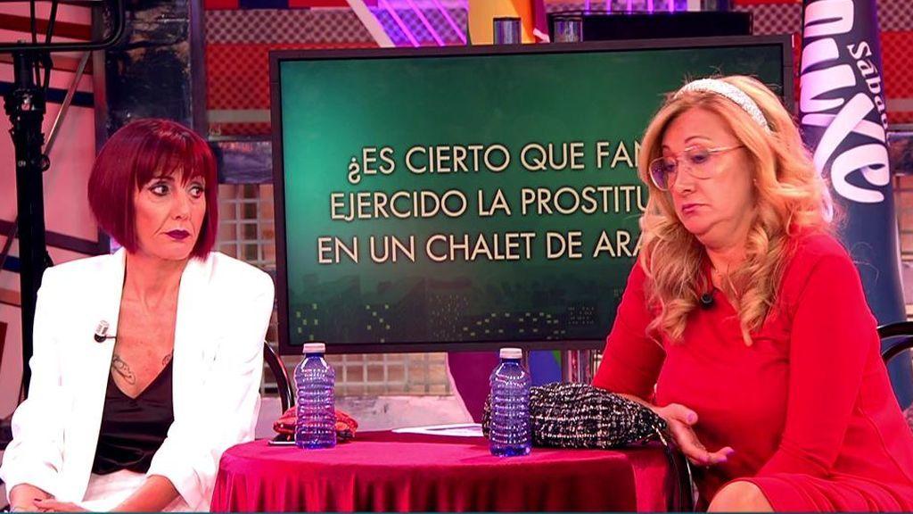 Fani ha trabajado de 'pretty woman', según el 'polideluxe' a sus tías Raquel y Maite