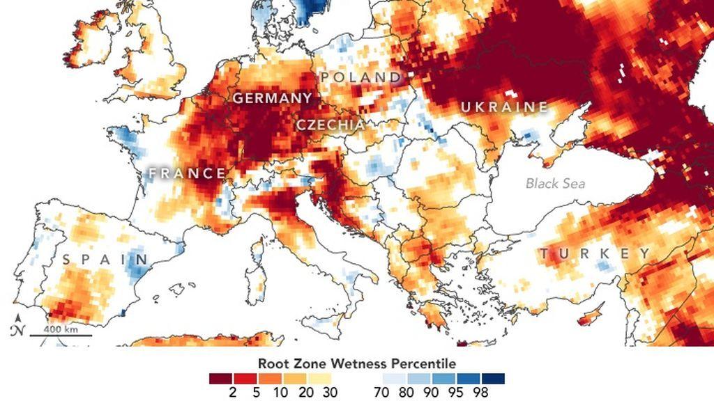 Nivel de aguas freáticas a nivel raticular en Europa