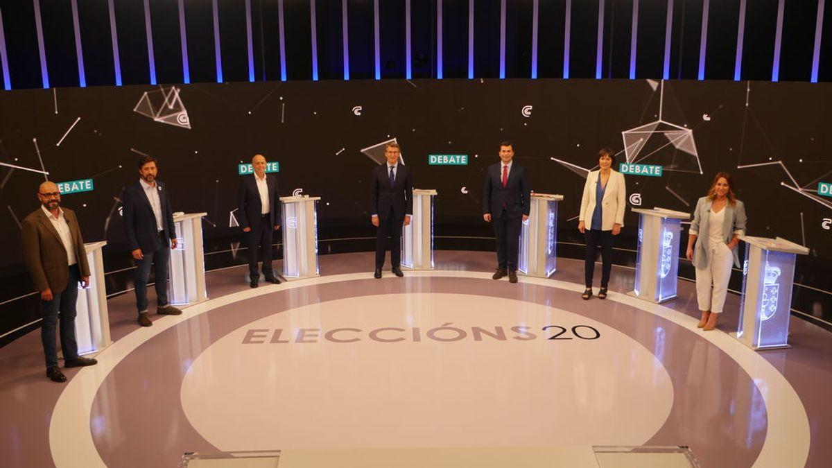 Elecciones Galicia 2020: único debate electoral a 7 para convencer a medio millón de indecisos