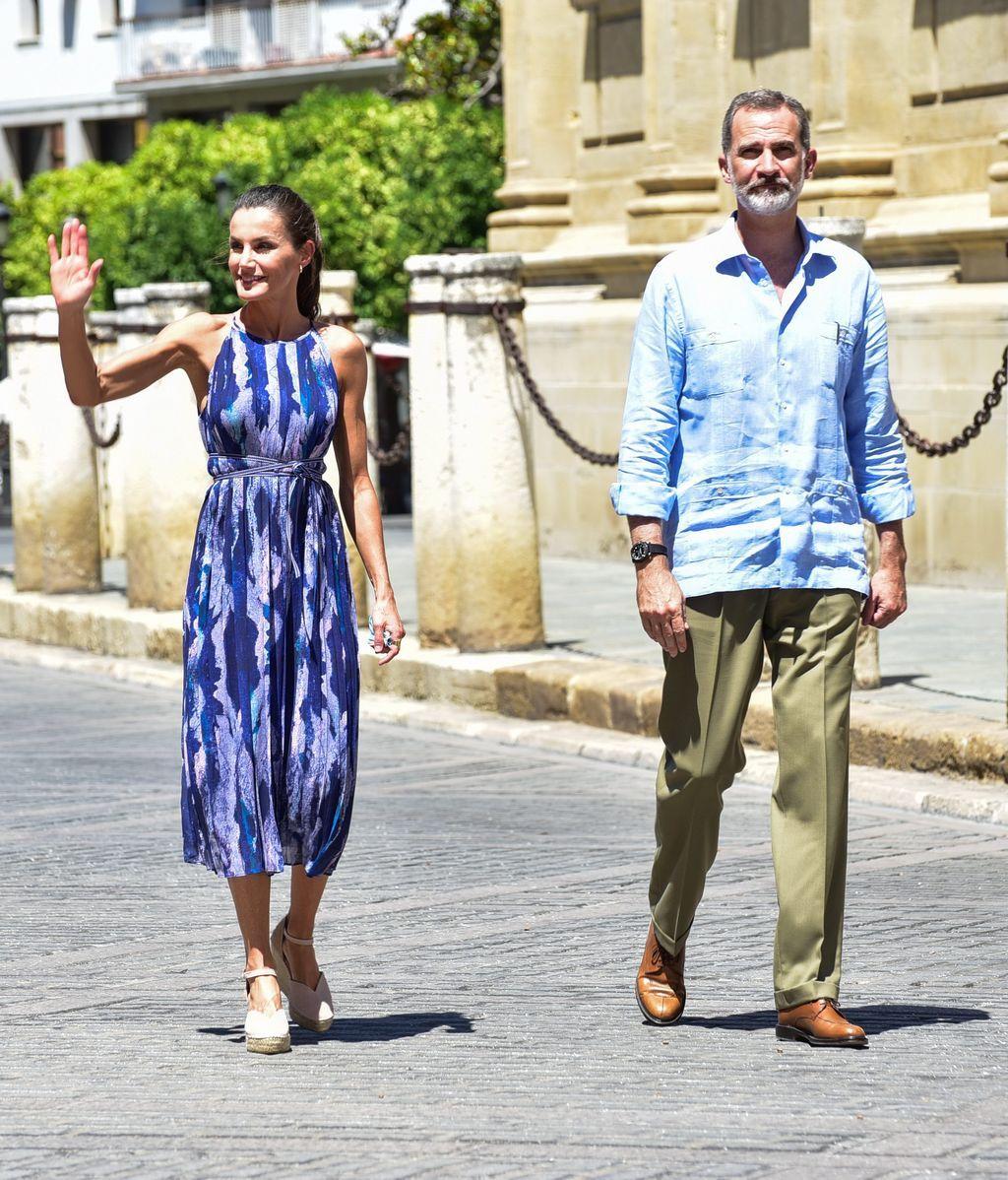 Los reyes de España en su visita a Las Tres Mil Viviendas, Sevilla