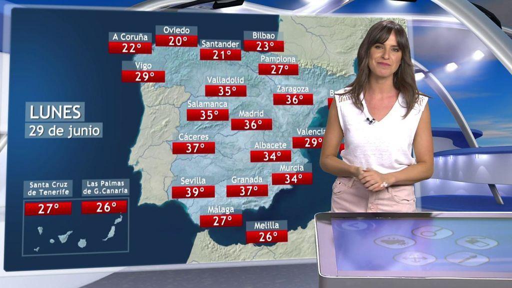Más de 35ºC en una quincena de provincias: el calor va a más el martes