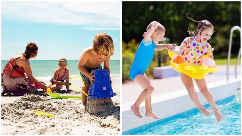 ¿Piscina o playa? ¿Cuál es la mejor opción para los niños?